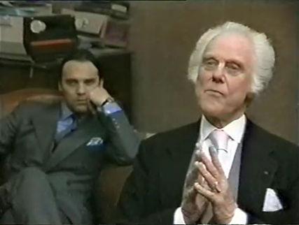 Marius Goring as Emile Englander & Stuart Wilson as Simon Carter in The Old Men at the Zoo 1983