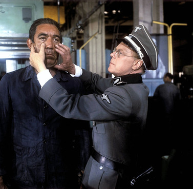 Anthony Quinn as Johann Moritz and Marius Goring as Colonel Muller in The 25th Hour 1967