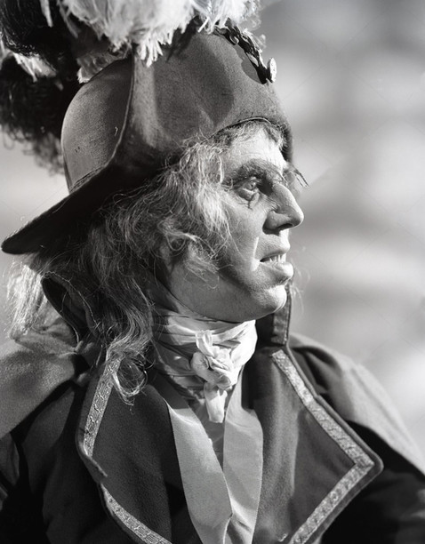 Marius Goring as Sir Percy/The Scarlet Pimpernel in disguise as Judge Amare in Episode 15 'Antoine and Antoinette'