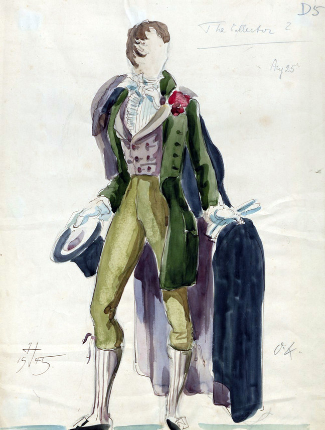 Hein Heckroth Costume Sketch for Conductor 71