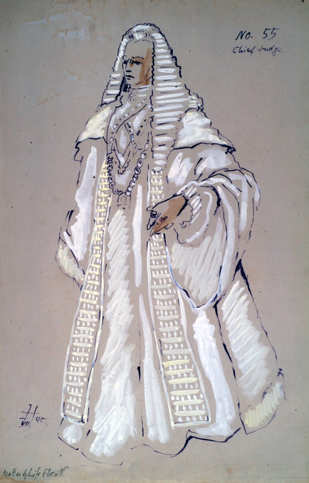 Hein Heckroth Costume Sketch for The Judge