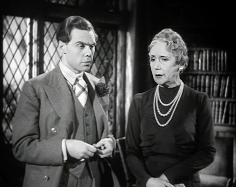 Marius Goring as Lord Lebanon and Helen Haye as Lady Lebanon in The Case of the Frightened Lady 1940