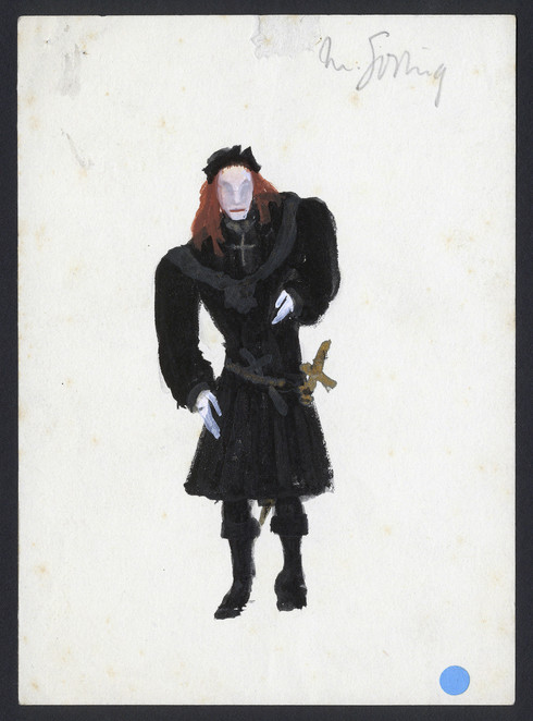 Marius Goring as Richard III Costume Sketch by The Motley Group 1953