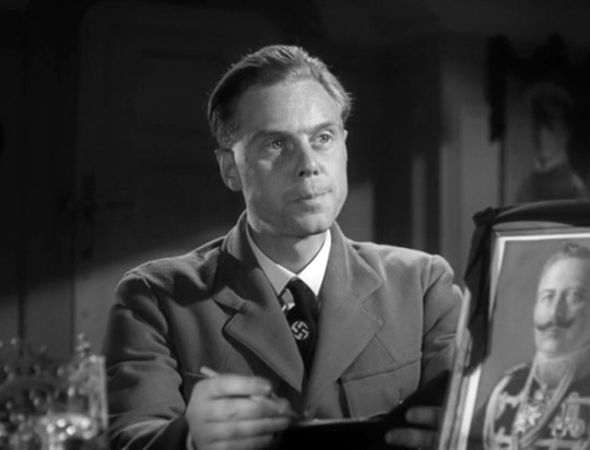 Marius Goring as the German Propaganda Officer in The Big Blockade 1942