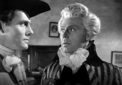 Robert Shaw as Lord Anthony Dewhurst and Marius Goring as Sir Percy Blakeney