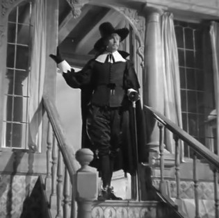 This is Marius's entrance in his first speaking role in only his second film which was directed by Alexander Korda. He looks very impressive in his 17th century Dutch costume