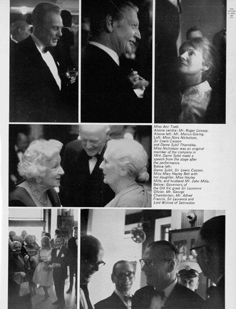 Marius Goring at an after party at the Old Vic, 1963