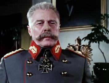 Marius Goring as General Paul von Hindenburg in Fall of Eagles 1974