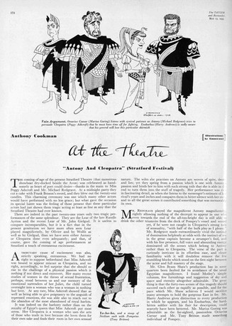 Marius Goring as Octavius Caesar in Shakespeare's  'Antony and Cleopatra' at the Stratford Festival May 1953