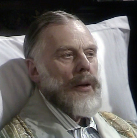 Marius Goring as King George V in Edward and Mrs Simpson Part 1 'The Little Prince'. Director: Waris Hussein. Writers: Frances Donaldson, Simon Raven. Broadcast 6 November 1978