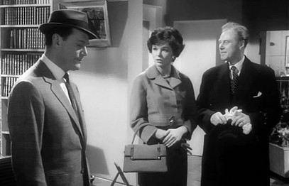 Eddie Constantine, Dawn Addams and Marius Goring