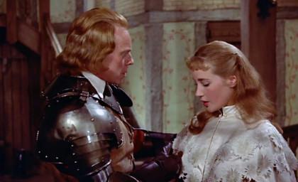 Marius Goring & Sylvia Syms in The Moonraker