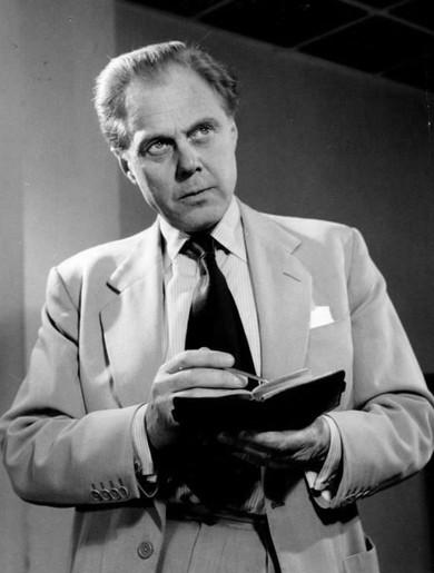 Marius Goring as John Lock in BBC Sunday-Night Play: The Money Machine 1962