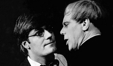 Marius Goring as Teddy with Norman Rodway in The Poker Session 1963-64