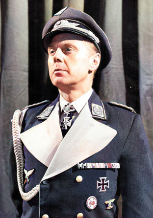 Marius Goring as General Harras in Carl Zuckmayer's play about a veteran hero of the German army who finds himself at odds with the Nazi regime. Broadcast 14 August 1960