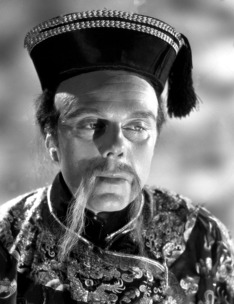 Marius Goring as Sir Percy/The Scarlet Pimpernel in disguise as Chang Ling Soo in Episode 4 'The Tale of Two Pigtails'