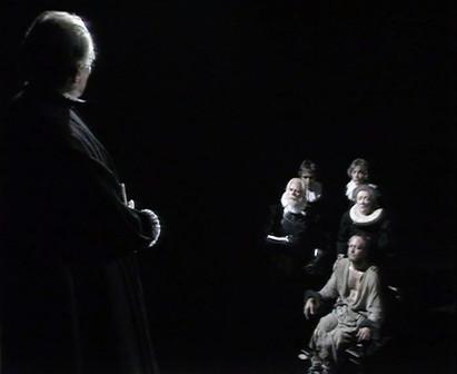 Marius Goring as Sicilius Leonatus, Madge Ryan as  his wife and Michael Pennington as Posthumus
