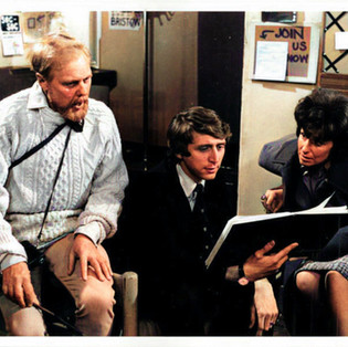 Marius Goring as Dr John Hardy, Donald Gee as Dr Creasey and Ann Morrish as Dr Jo Hardy in The Expert 'A Way to Die' Season 3 Episode 1 Broadcast: 3 January 1971