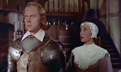 Marius Goring as Colonel Beaumont and Sylvia Syms as Anne Wyndham in The Moonraker 1958