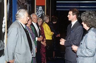 Peter Ustinov, Prudence Goring, Marius Goring and Prince Edward