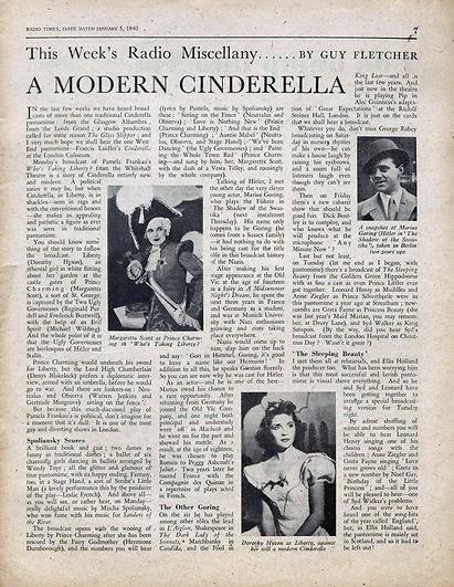 Radio Times Article 1940