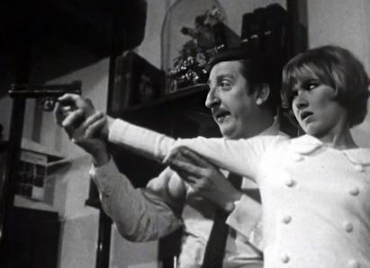 Pierre Tornade as Joseph Torrence and Marlène Jobert as Mlle Berthe