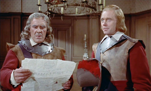 John Le Mesurier as Cromwell and Marius Goring as Colonel Beaumont in The Moonraker