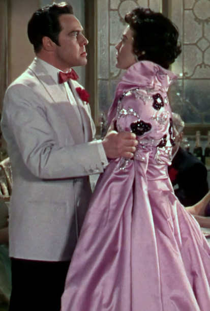 Marius Goring as Alberto Bravano and Ava Gardner as Maria Vargas