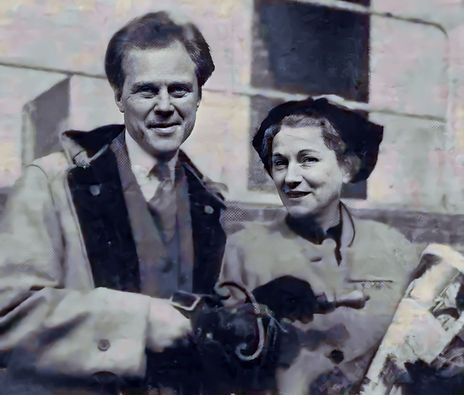 Marius and Lucie on the way to Helsinki September 1957