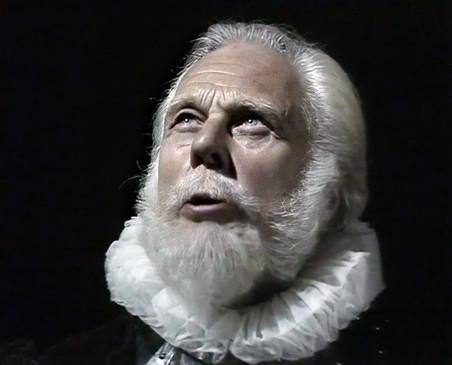 Marius Goring as Sicilius Leonatus in Cymbeline 1982