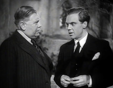 George Merritt as Detective Chief Inspector Tanner and Marius Goring as Lord Lebanon