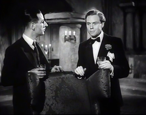 Ronald Shiner as Sergeant Totty and Marius Goring as Lord Lebanon