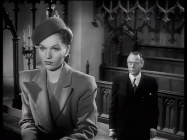 Greta Gynt as Phillipa Shelley and Marius Goring as Sidney Fleming in Take My Life 1947