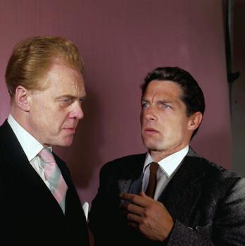Marius Goring as Lewis Eliot & Lyndon Brook as Martin Eliot in ITV Play of the Week: The New Men 1966