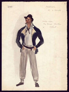 The Motley Group sketch of the Pimpernel as a sailor in an episode that was never filmed