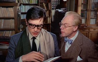 Marius Goring and Alain Delon