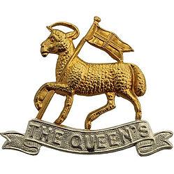 Queens Royal West Surrey Regiment Badge.