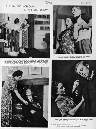 Marius Goring, Lucie Mannheim, Andre Morell and Tom Gill in 'The Last Straw' at the Comedy Theatre 1937
