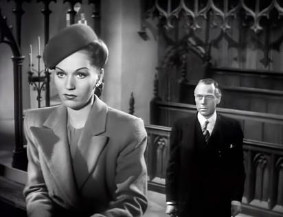 Greta Gynt as Phillipa Shelley and Marius Goring as Sidney Fleming