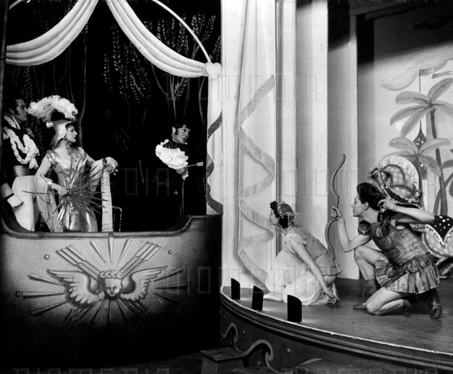 Marius Goring as Amor in 'The Happy Hypocrite' by Max Beerbohm with Ivor Novello as Lord George Hell and Vivien Leigh as Jenny Mere at His Majesty's Theatre, London 1936