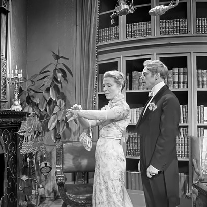 Ruth Hausmeister as Mrs Cheveley and Marius Goring as Viscount Goring