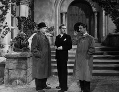 George Merritt as Detective Chief Inspector Tanner, Marius Goring as Lord Lebanon and Ronald Shiner as Sergeant Totty