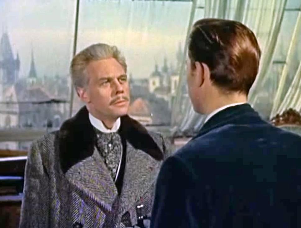 Marius Goring as Otto Kerstein and Laurence Harvey as Sir Humphrey Tavistock