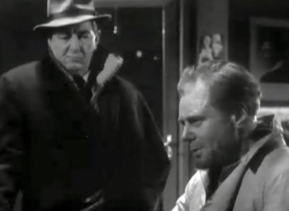 Marius Goring as Peter the Lett iand Rupert Evans Inspector Maigret in Maigret Season 4 Episode 12 'Peter the Lett'. Broadcast 17 December 1963