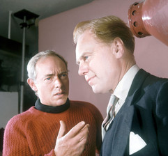 Michael Bryant as Walter Luke and Marius Goring as Lewis Eliot in the ITV Play of the Week Season 12 Episode 10 'The New Men'. Directed by John Jacobs and written by Troy Kennedy-Martin and C P Snow. Broadcast 8 November 1966