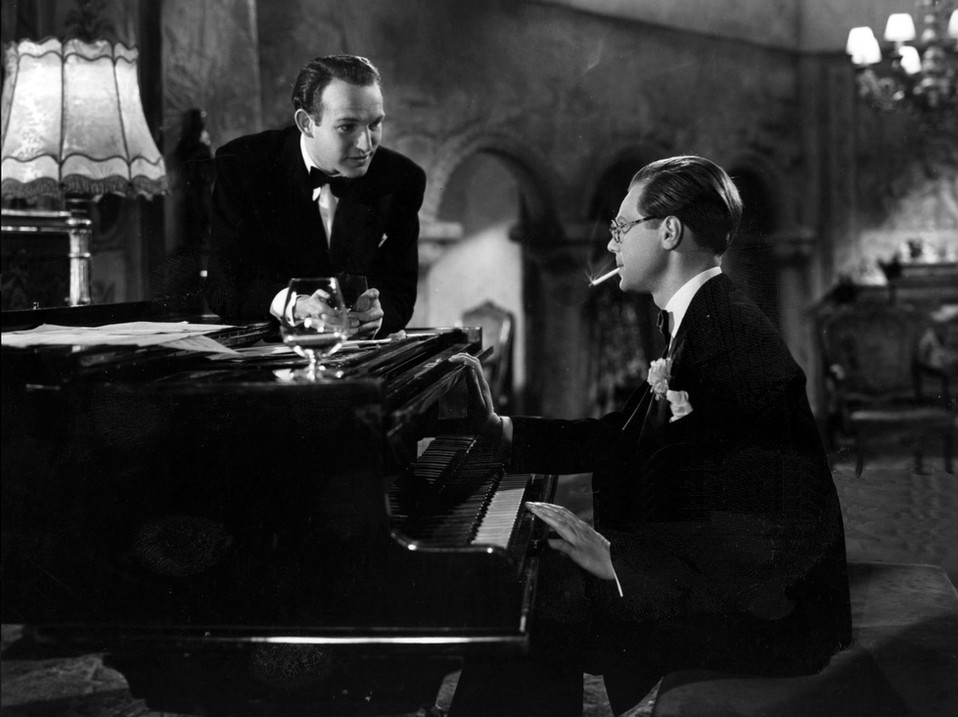 Marius Goring as Lord Lebanon & Patrick Barr as Richard Ferraby in The Case of the Frightened Lady 1940