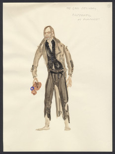 The Motley Group costume sketch of the Pimpernel in disguise as a pickpocket in 'The Gaol Delivery' an episode that was never filmed