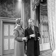 Marius Goring as Viscount Goring and Paul Henckels as the Earl of Caversham