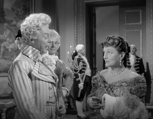 Marius Goring as Sir Percy Blakeney & Lucie Mannheim as the Comtesse la Valliere in Episode 6: Sir Percy's Wager in The Adventures of the Scarlet Pimpernel 1955