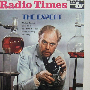 Radio Times cover for the premiere of The Expert on BBC2 June 29 - July 5 1968